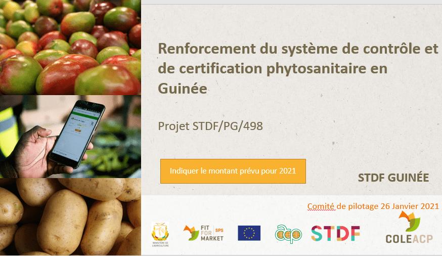 renforcement du système de contrôle et de certification phytosanitaire
