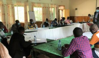 Group training on safe use of pesticides and crop protection