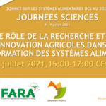 Le rôle de la Recherche et de l'Innovation agricoles dans la transformation des systèmes alimentaires