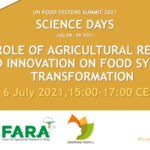 The role of agricultural Research and Innovation on food systems transformation