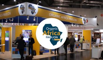 Organic Africa Pavilion banner